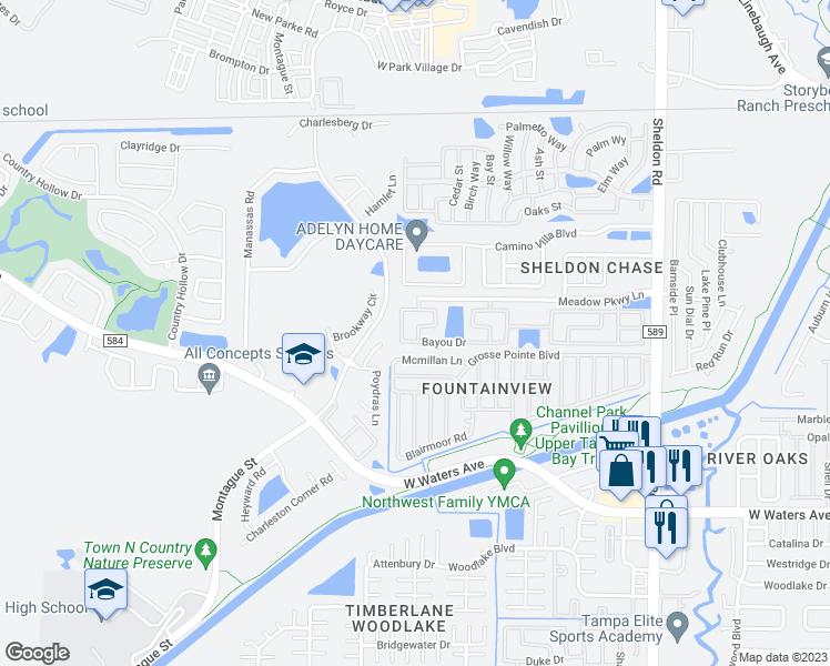 9197 Bayou Drive Town n Country FL Walk Score