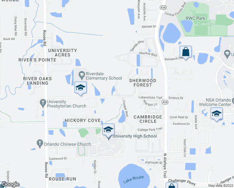 3261 Alafaya Club Drive University Central FL Walk Score