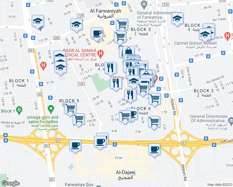 107 Street AlFarwaniya Al Farwaniyah Governorate Walk Score