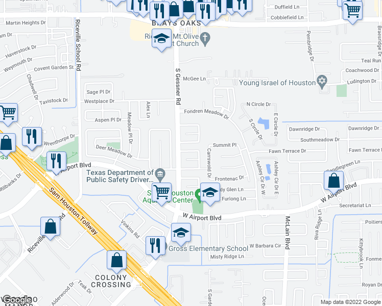 8515 Fawn Terrace Drive Houston TX Walk Score