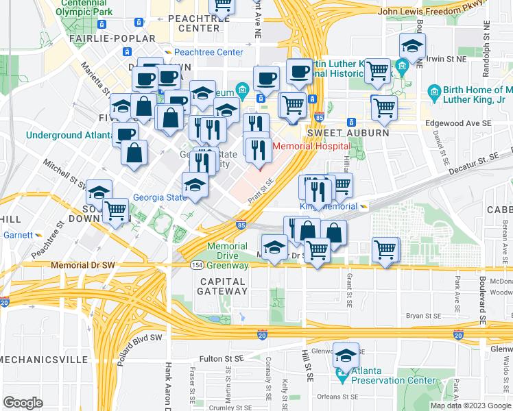 Downtown Connector Atlanta GA Walk Score
