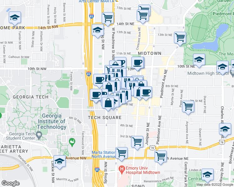 Nine15 Midtown Apartments Atlanta GA Walk Score