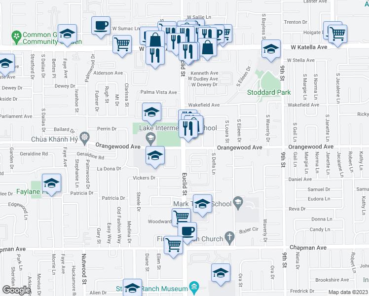S Euclid St Orangewood Ave Anaheim CA Walk Score