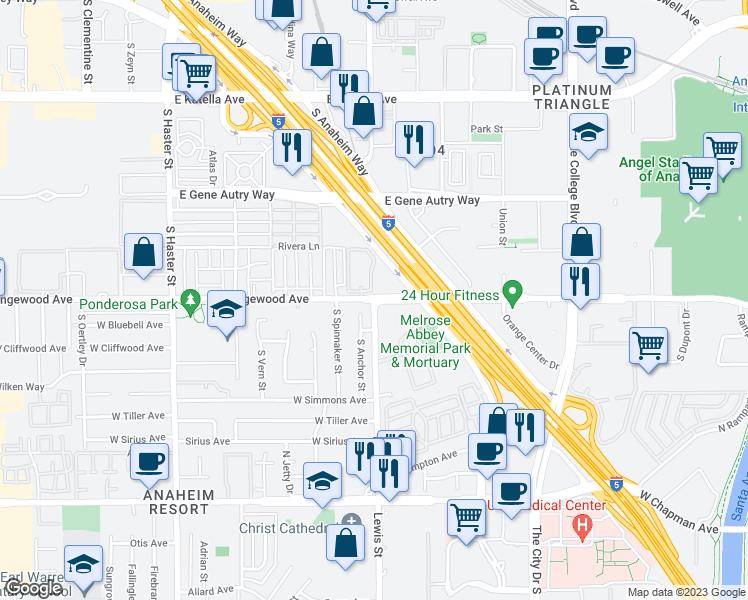 S Lewis St E Orangewood Ave Anaheim CA Walk Score