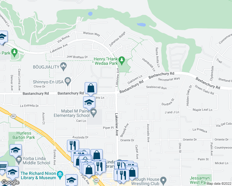 Bastanchury Rd Lakeview Ave Yorba Linda CA Walk Score