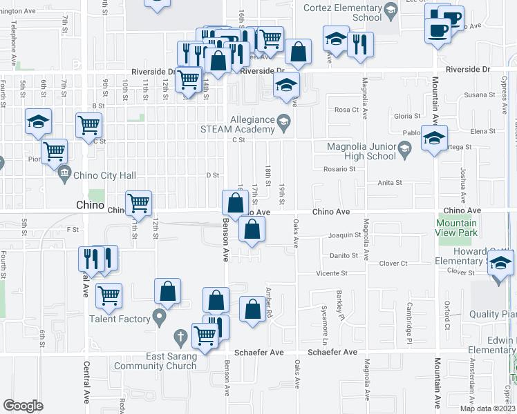 13287 17th Street Chino CA Walk Score