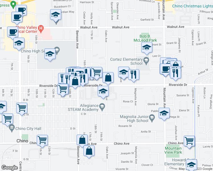 Riverside Drive Oaks Avenue Chino CA Walk Score