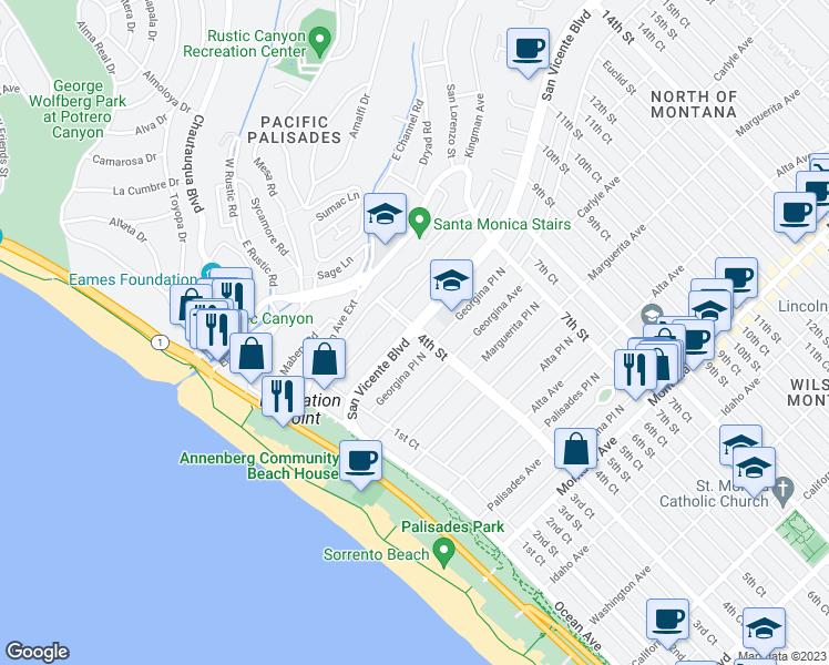 San Vicente Boulevard 4th Street Santa Monica CA Walk Score