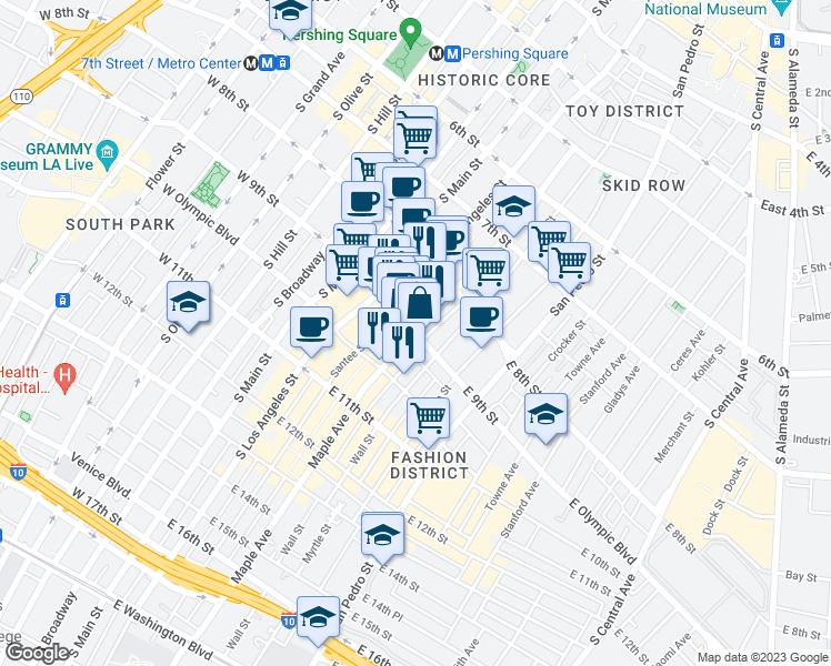 East 9th Street Maple Avenue Los Angeles CA Walk Score