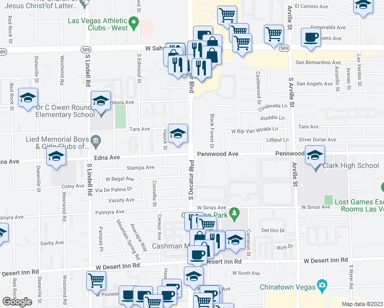 S Decatur Blvd Pennwood Ave Las Vegas NV Walk Score