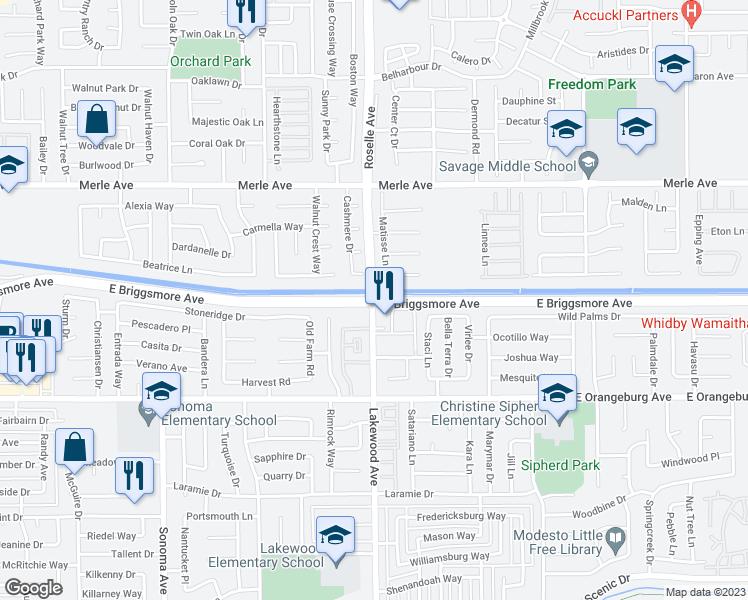 E Briggsmore Ave Lakewood Ave Modesto CA Walk Score