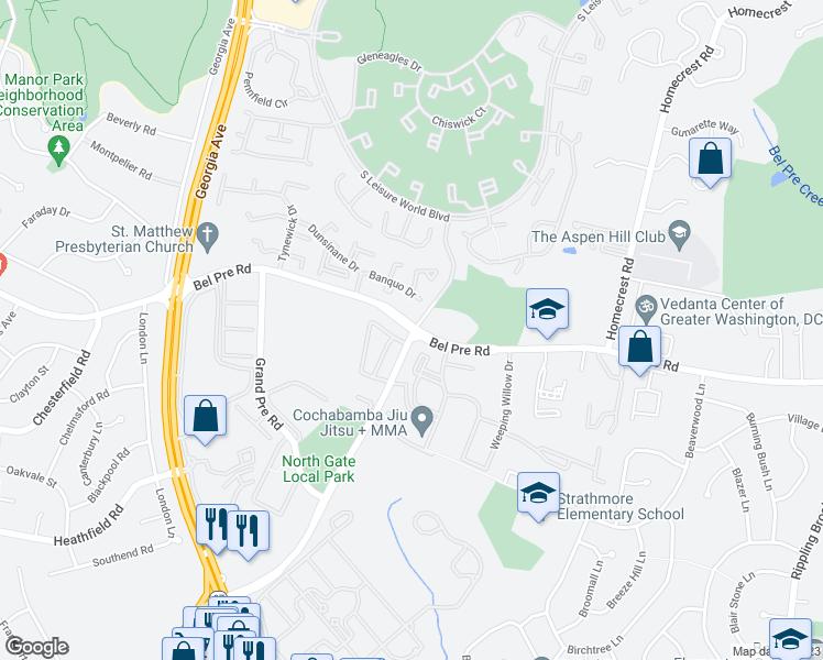 Connecticut Ave Bel Pre Rd Aspen Hill MD Walk Score