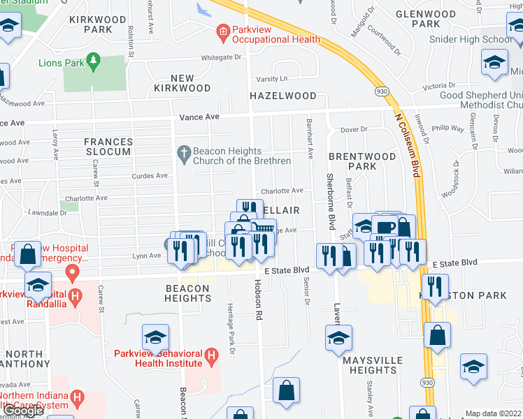 2530 Hobson Road Fort Wayne IN Walk Score