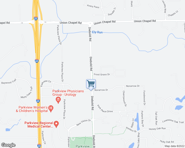 11828 Diebold Road Fort Wayne IN Walk Score