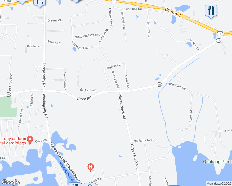 349 Shore Road Westerly RI Walk Score