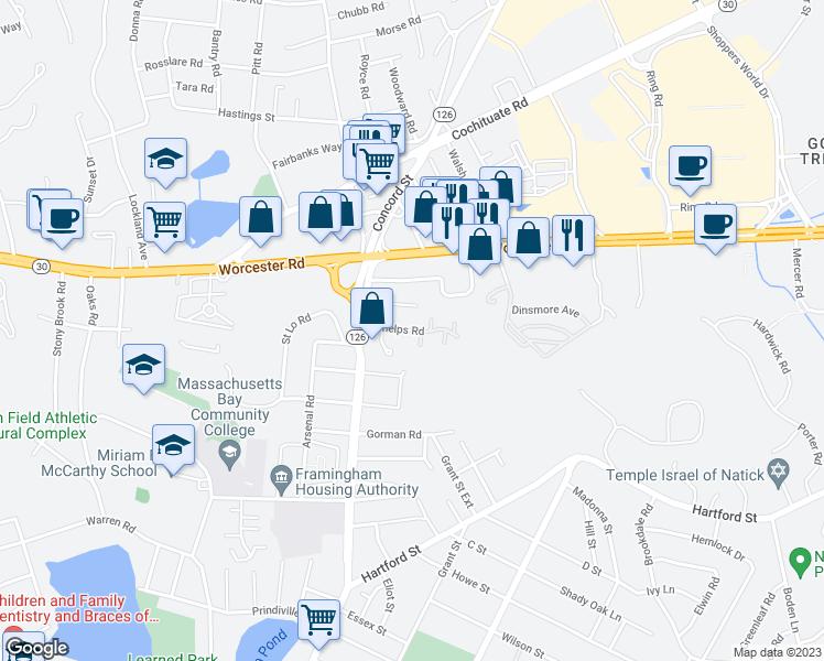 9 Phelps Road Framingham MA Walk Score