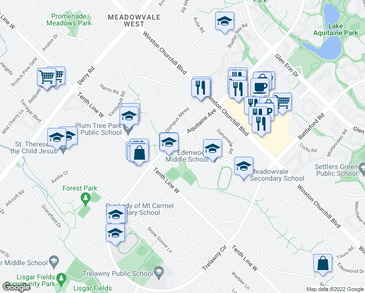 3185 Bracknell Crescent Mississauga ON Walk Score
