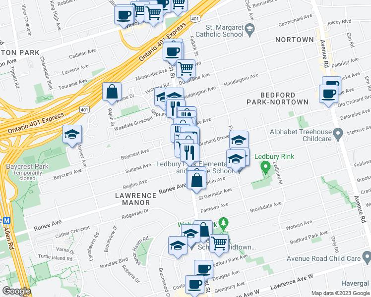 Bathurst St Old Orchard Grove Toronto ON Walk Score