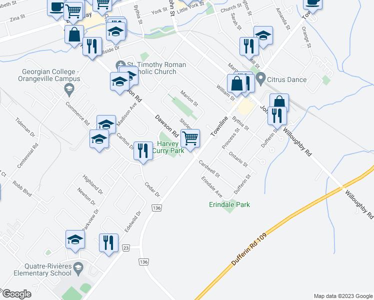 104 Dawson Road Orangeville ON Walk Score
