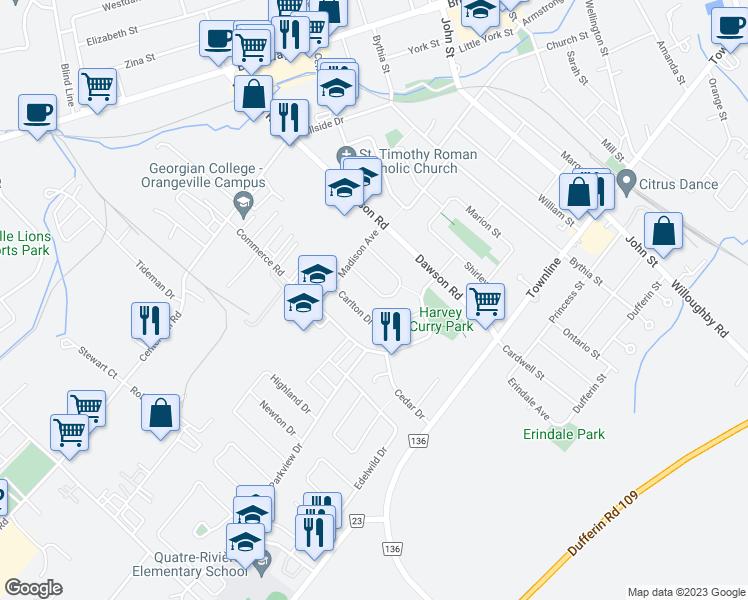 67 Maple Crescent Orangeville ON Walk Score
