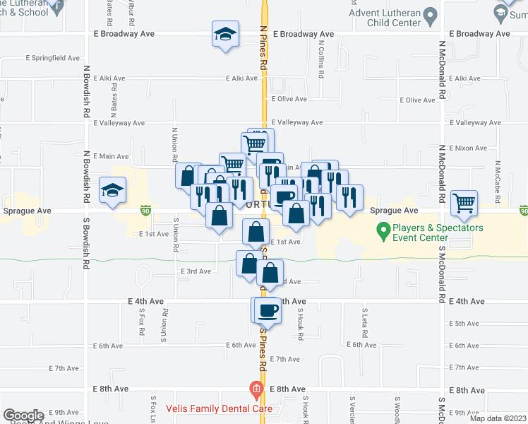 E Sprague Ave N Pines Rd Spokane Valley WA Walk Score