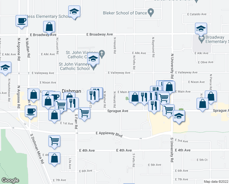 E Main Ave N Herald Rd Spokane Valley WA Walk Score