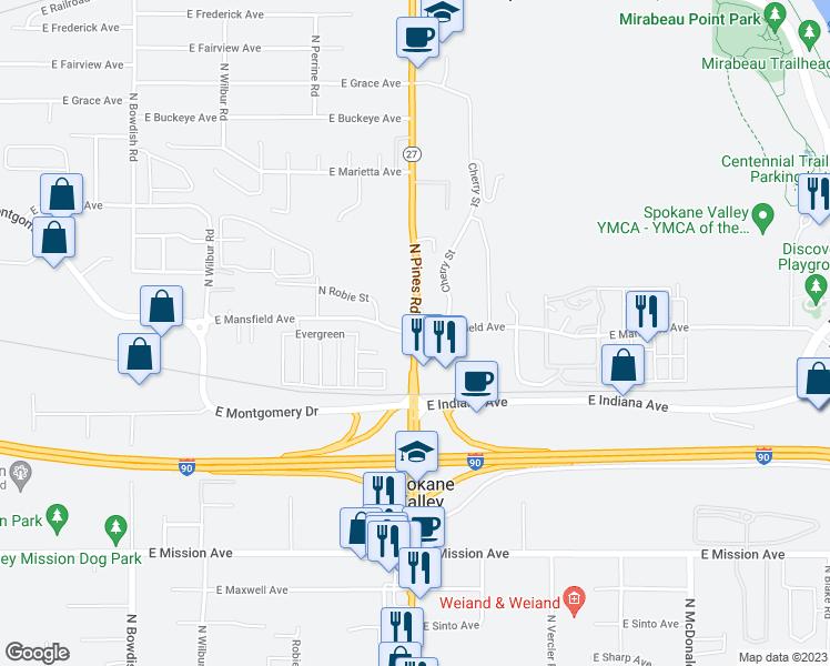 N Pines Rd E Mansfield Ave Spokane Valley WA Walk Score