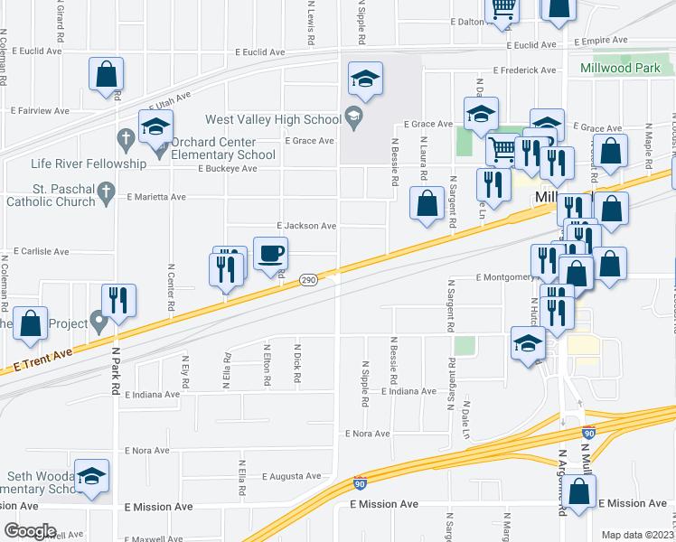 E Trent Ave N Vista Rd Spokane Valley WA Walk Score