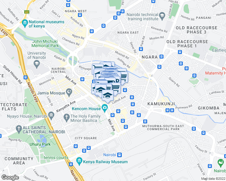 Dubois Road Nairobi Nairobi Walk Score - nairobi map