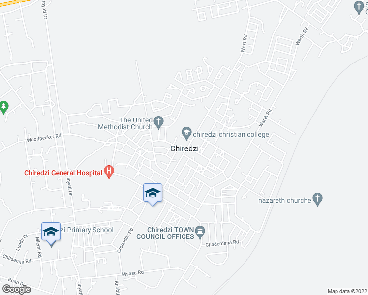 map of restaurants, bars, coffee shops, grocery stores, and more near in Chiredzi