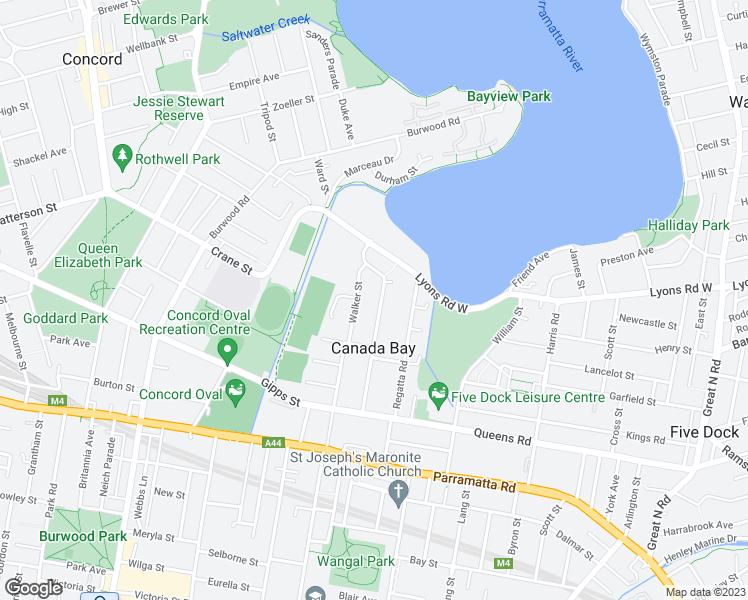 Canada Bay Sydney Map 57 Bayview Road, Sydney NSW   Walk Score