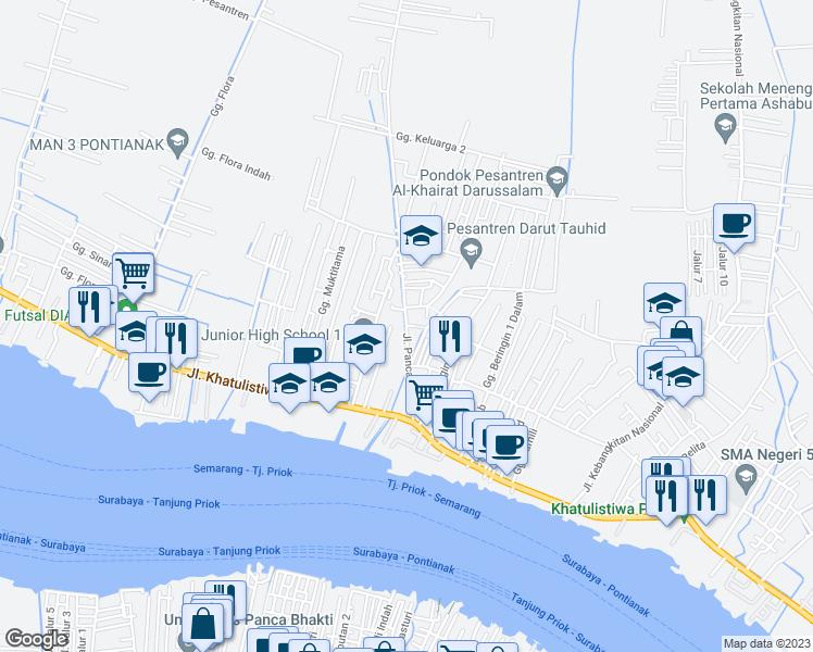 Jalan Panca Bhakti Kota Pontianak Kalimantan Barat Walk Score