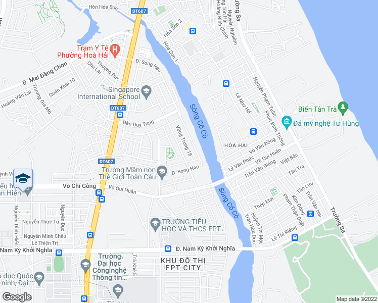 map of restaurants, bars, coffee shops, grocery stores, and more near in Ngũ Hành Sơn