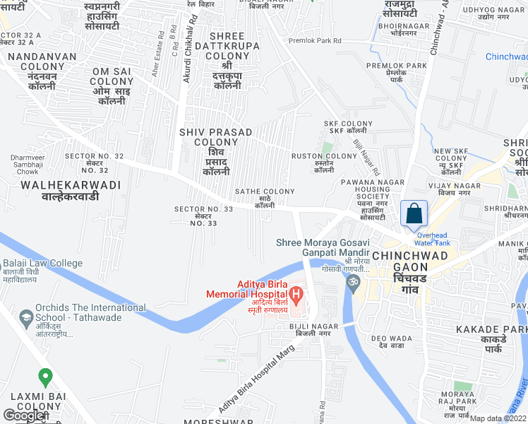 map of restaurants, bars, coffee shops, grocery stores, and more near 03/11/0189 Walhekar Wadi Road in Pimpri-Chinchwad