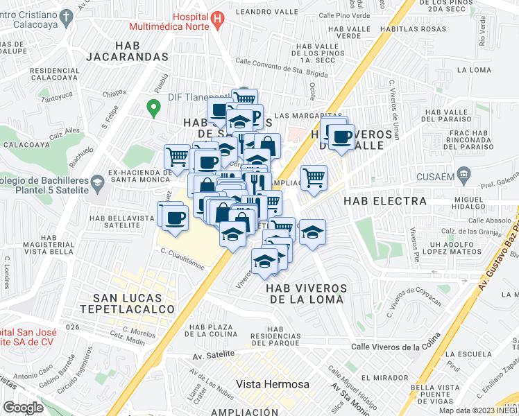 Tlalnepantla Mexico Map.Manuel Avila Camacho Autopista Mexico Queretaro Tlalnepantla Mex