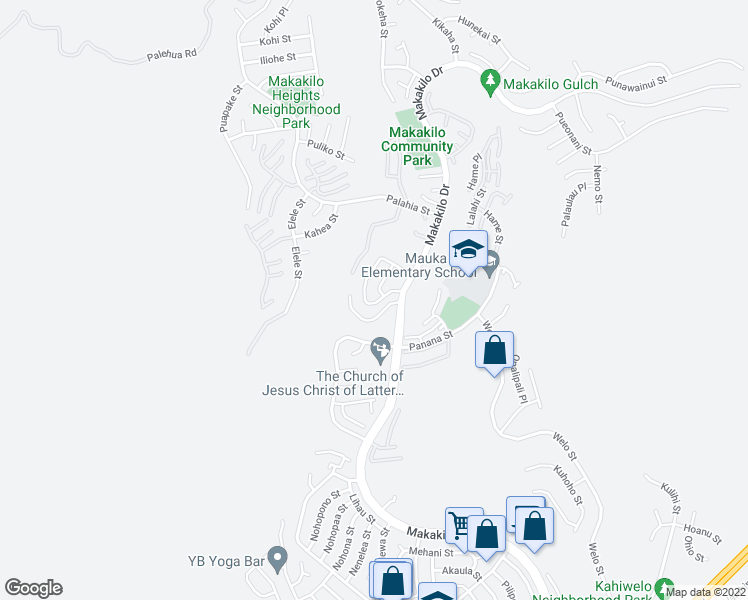 map of restaurants, bars, coffee shops, grocery stores, and more near 92-987 Kanehoa Loop in Kapolei