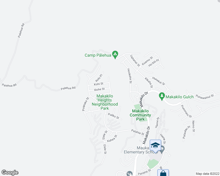 map of restaurants, bars, coffee shops, grocery stores, and more near Limukele St in Kapolei
