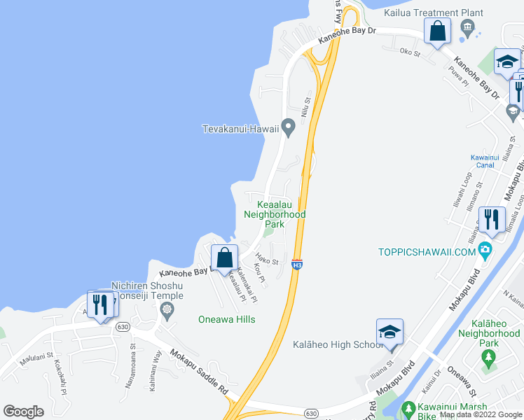 Kaneohe Bay Hawaii Map.44 483 Kaneohe Bay Drive Kaneohe Hi Walk Score