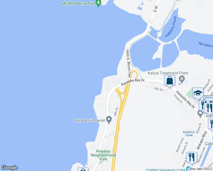 Kaneohe Bay Hawaii Map.44 313 Kaneohe Bay Drive Kaneohe Hi Walk Score