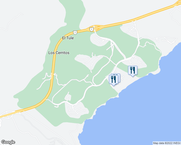 map of restaurants, bars, coffee shops, grocery stores, and more near Unnamed Road in Los Cabos