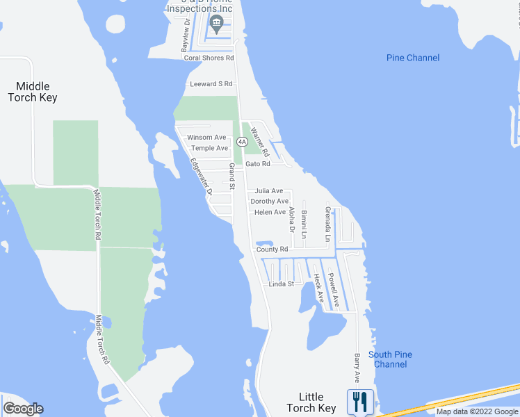 map of restaurants, bars, coffee shops, grocery stores, and more near 28141 Helen Avenue in Summerland Key