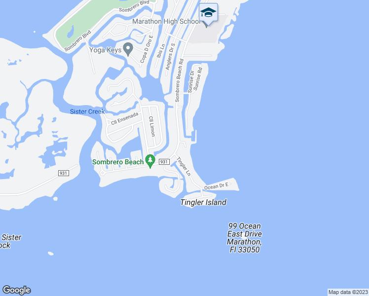 Map Of Marathon Florida.1 Sandpiper Lane Marathon Fl Walk Score