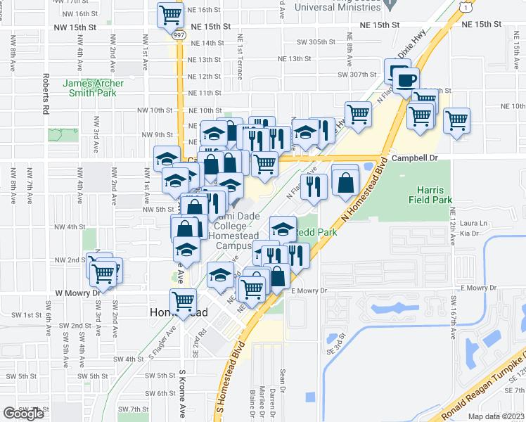 Map Homestead Florida.South Miami Dade Busway Homestead Fl Walk Score