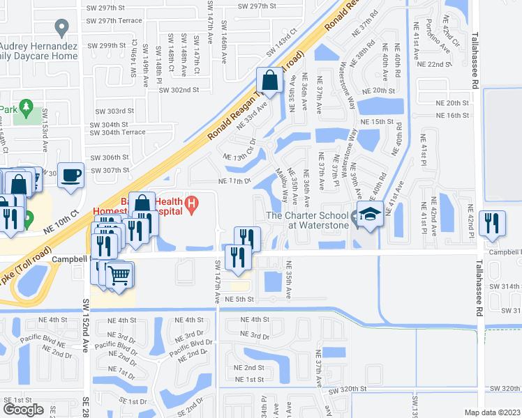 Map Of Homestead Florida.1005 Ne 34th Ave Homestead Fl Walk Score