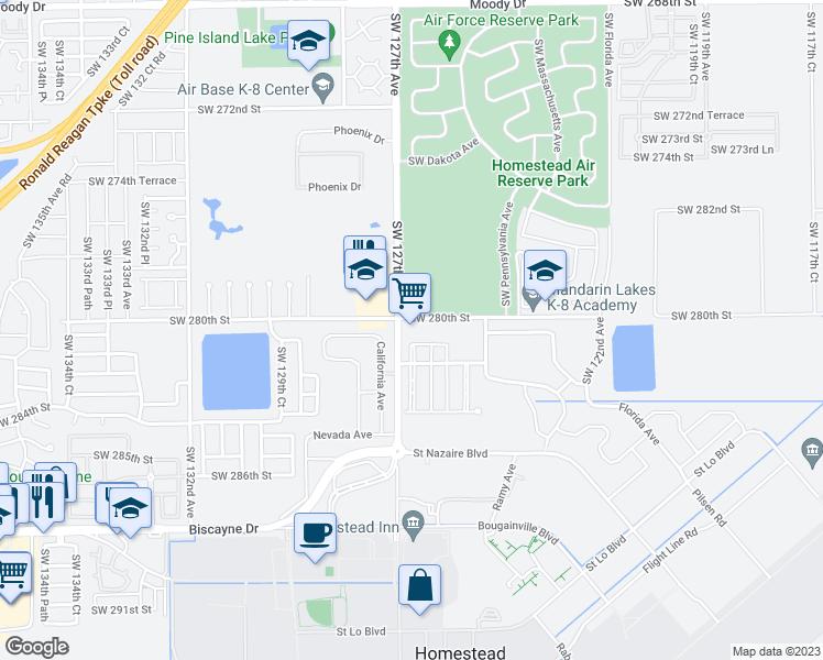 Map Of Homestead Florida.12690 Southwest 280th Street Homestead Fl Walk Score