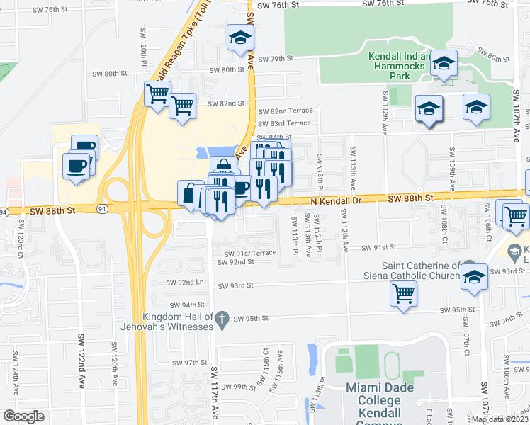 11400 North Kendall Drive Kendall Fl Walk Score