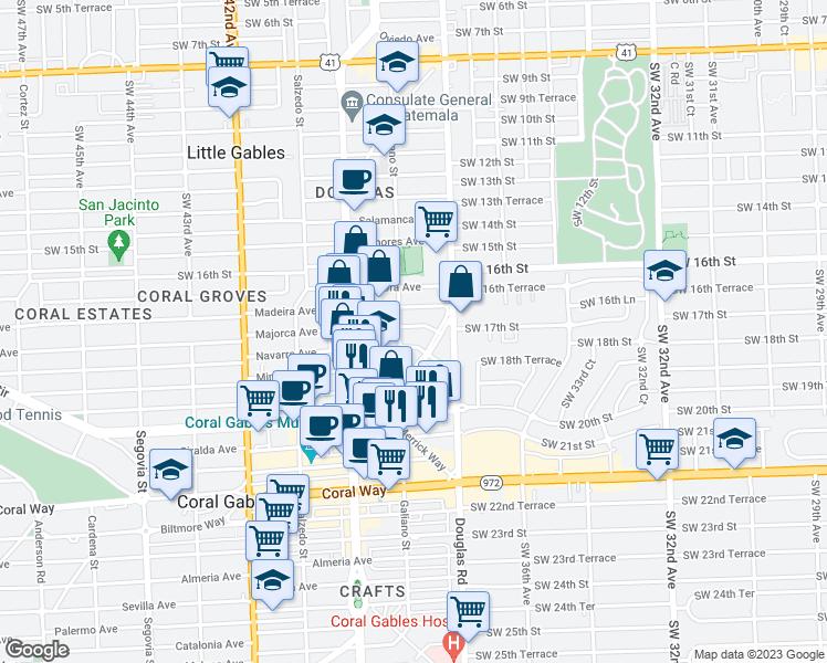 Coral Gables Map Florida.36 Majorca Avenue Coral Gables Fl Walk Score