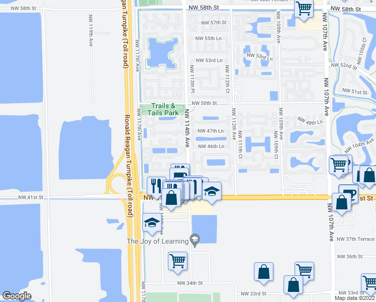 Doral Florida Map.4632 Nw 114th Ave Doral Fl Walk Score