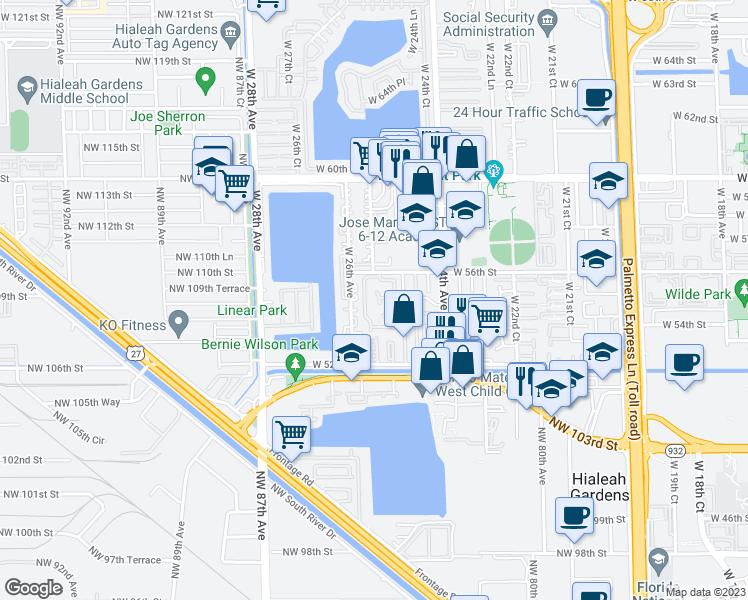 Hialeah Florida Map.2504 West 56th Street Hialeah Fl Walk Score
