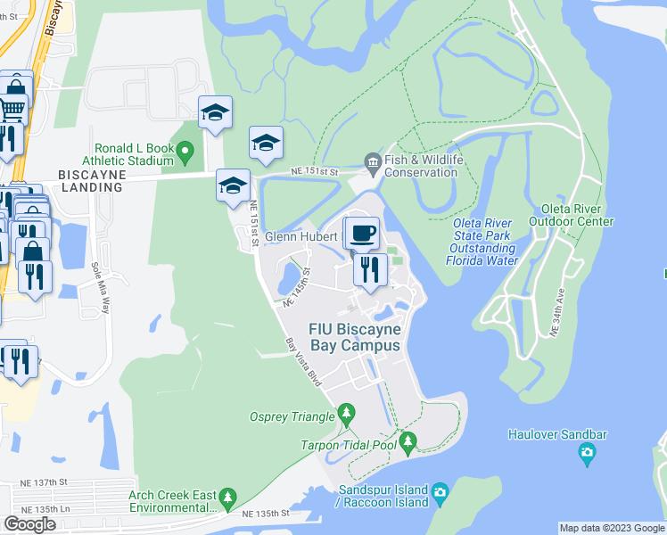 Biscayne Bay Campus Map.Fiu North Campus North Miami Fl Walk Score